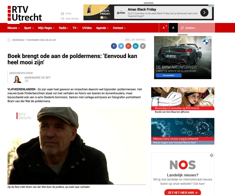 Boek brengt ode aan de poldermens: 'Eenvoud kan heel mooi zijn' (door RTV Utrecht)